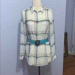 Semi Sheer blouse by White House Black Market